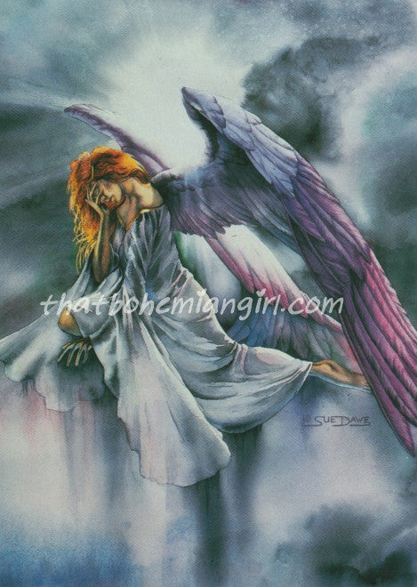 Susan Dawe Angels Wept Tonight Greeting Card