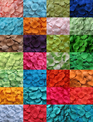 1000 Wholesale Silk Rose Petals, Assorted Colors