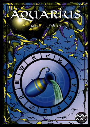 Astrological Aquarius Greeting Card
