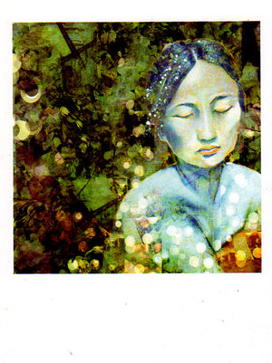 Asian Woods Woman Greeting Card by Papaya