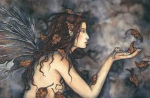 Amy Brown Autumn Whispers Fairy Postcard