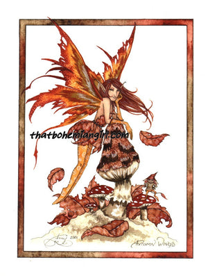 Amy Brown Autumn Wings Fairy Print -- 11 x 17