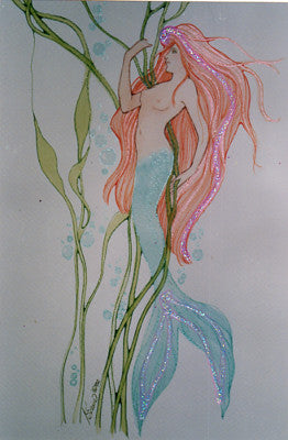 Karen Bagnard Avalon Mermaid Greeting Card