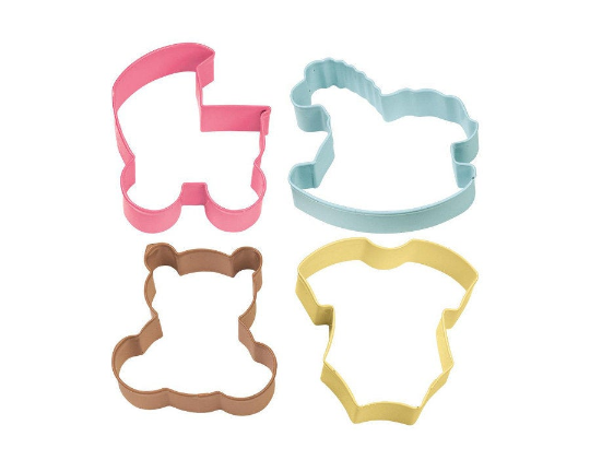 4 Metal Baby Themed Cookie Cutters