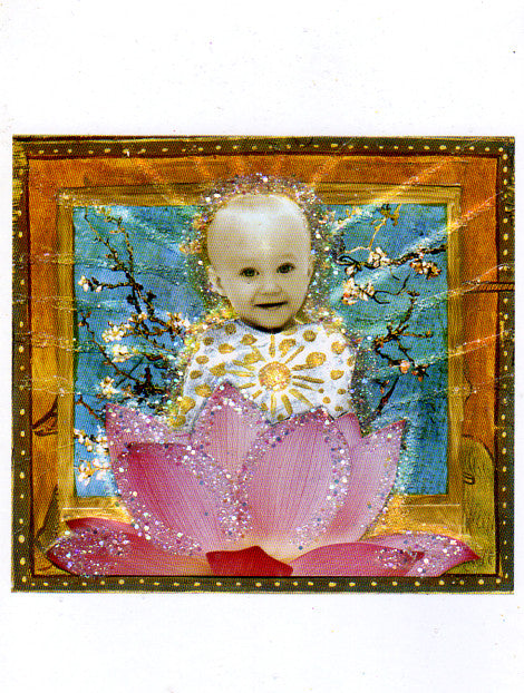 Baby Lotus Flower Greeting Card by Papaya
