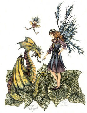 Amy Brown Bad Dragon Fairy Greeting Card