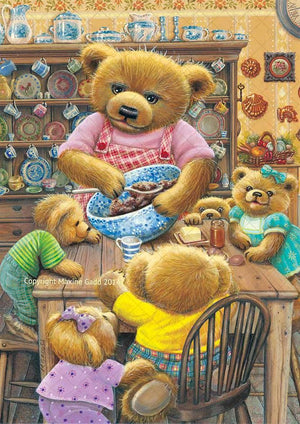 Wholesale Maxine Gadd Teddy Bear Baking Day Print -- Set of 6