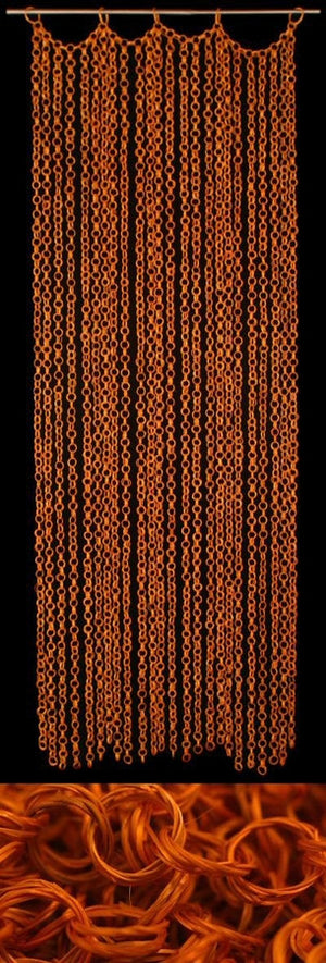 Orange Bamboo Curtain
