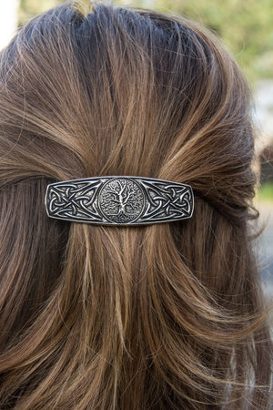 Metal World Tree Hair Barrette | Hair Clip