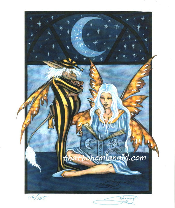 Amy Brown Bedtime Stories Fairy Postcard