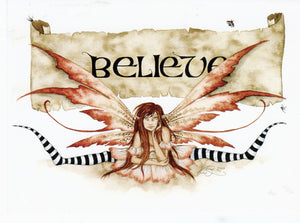 Amy Brown Believe Fairy Greeting Card