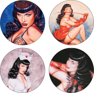 Bettie Page Coasters Set