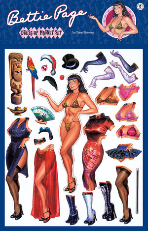 Bettie Page Dress up Magnet Set by Dark Horse
