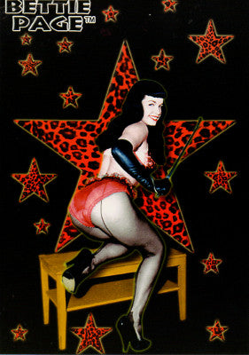 Bettie Page Sexy Star Postcard