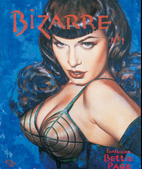 Bettie Page Bizarre I Note Card by Olivia De Berardinis