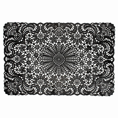 Black Vinyl Lace Placemat