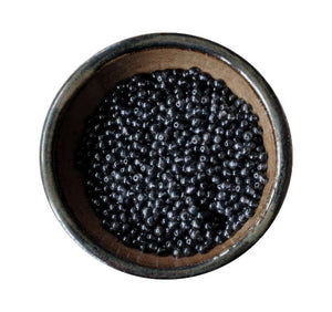 300 Pieces Black Glass Round Beads