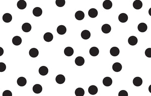 "Hazel and Ruby 8"" Wide Black Polka Scatter Dots Washi Tape"