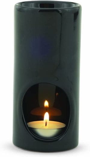 Black Tea Light Ceramic Oil Warmer