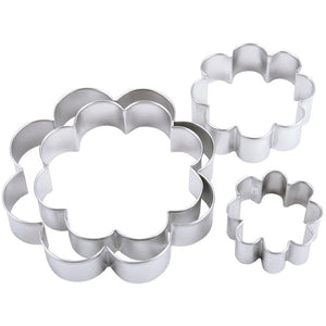4 Blossom Metal Cookie Cutter Set