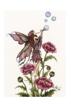 Amy Brown Blowing Bubbles Fairy Postcard