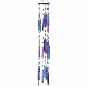 Glass Purple & Blue Windchime Suncatcher