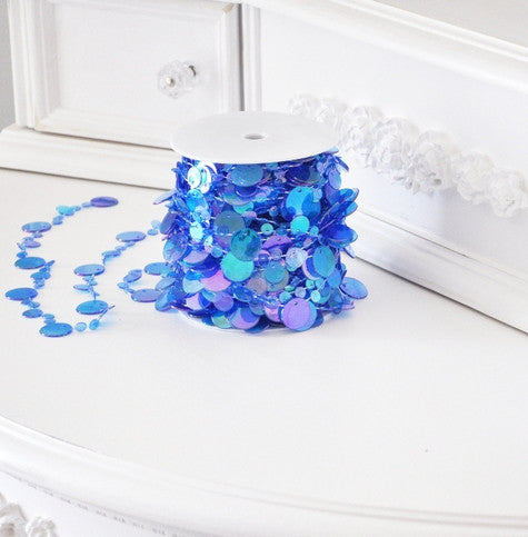 Blue Champagne Bubbles Bead Spool