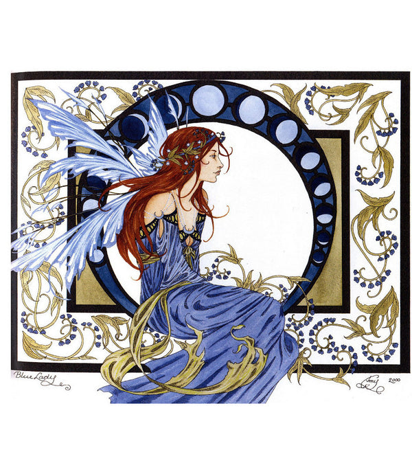 Amy Brown Blue Lady Fairy Print -- Limited Edition