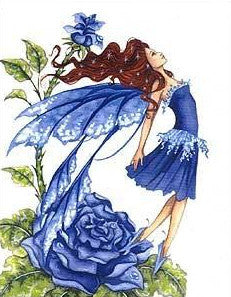 Amy Brown Blue Rose Fairy Postcard
