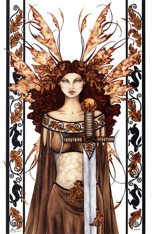 Amy Brown Boadiccea Fairy Print -- Limited Edition 11 x 14
