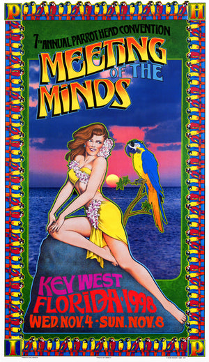 Bob Masse Jimmy Buffet Meeting of the Minds Playbill Art Card