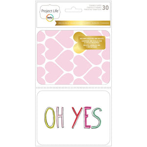 Project Life  Bold & Gold Foil Themed Cards and Die Cuts