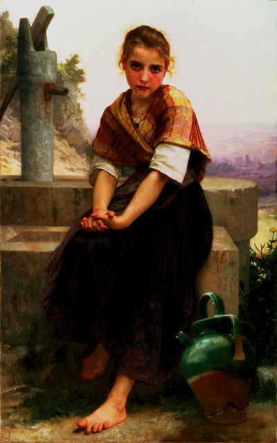 Adolphe William Bouguereau Broken Pitcher Greeting Card