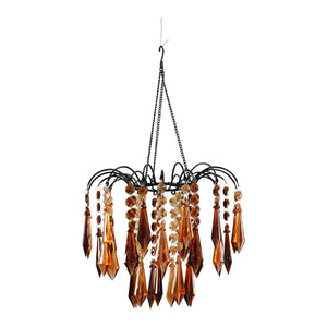 Brown Acrylic Ornaments Beaded Chandelier