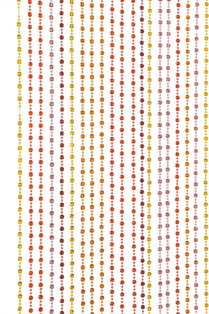 8' Foot Beaded Curtain -- Orange, Yellow, Brown Mini Balls