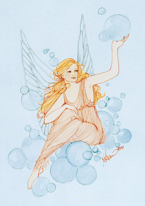 Karen Bagnard Bubble Fairy Greeting Card