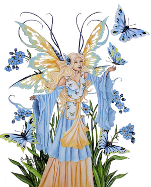 Amy Brown Butterfly Queen Fairy Print