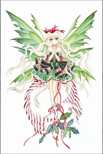 Nene Thomas Candy Cane Anime Fairy Print