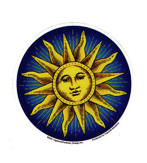 Celestial Sun Face Sticker Decal