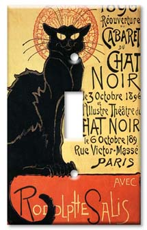 Chat Noir Cat Switch Plate
