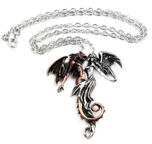 Alchemy Gothic The Chemical Wedding Beauty and the Beast Pendant Necklace