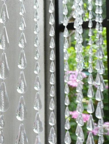 clear beaded curtain