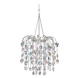 Beaded Teardrop Waterfall Chandelier -- Iridescent Clear