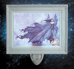 Amy Brown Cloak of Stars Fairy Night Light -- Porcelain Garden