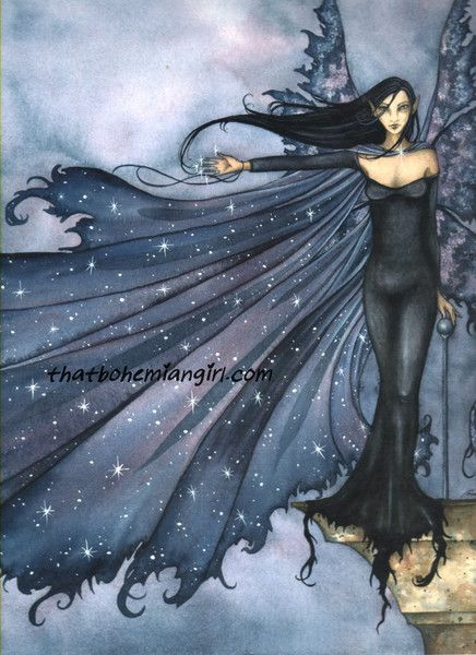 Amy Brown Cloak of Stars Fairy Ceramic Tile Art