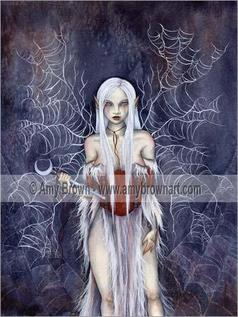 Amy Brown Cobweb Fairy Print -- Limited Edition 11 x 14 Inches