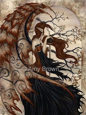 Amy Brown Contemplating Secrets Fairy Ceramic Tile Art