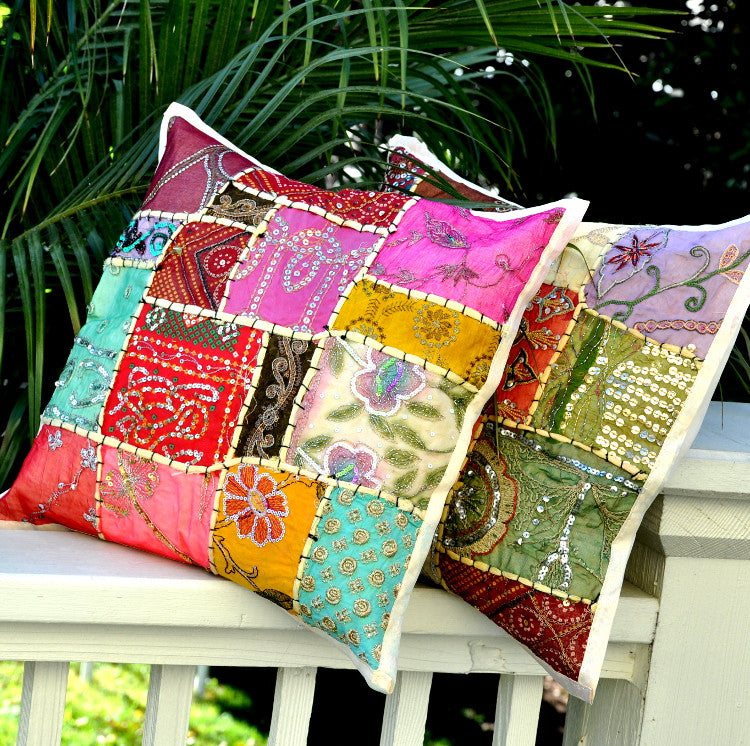 Bohemian Pillow Cover -- Cream