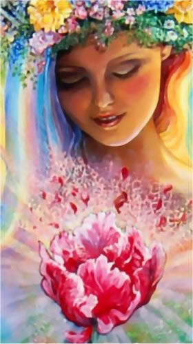 Josephine Wall QS Creation Girl Cross Stitch Pattern Chart