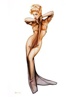 Curtain Call Pin Up Model Note Card by Olivia De Berardinis